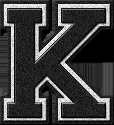 ETC u003e Presentations ETC Home u003e Alphabets u003e Varsity Letters u003e Black u003e Letter  K - Letter K HD PNG