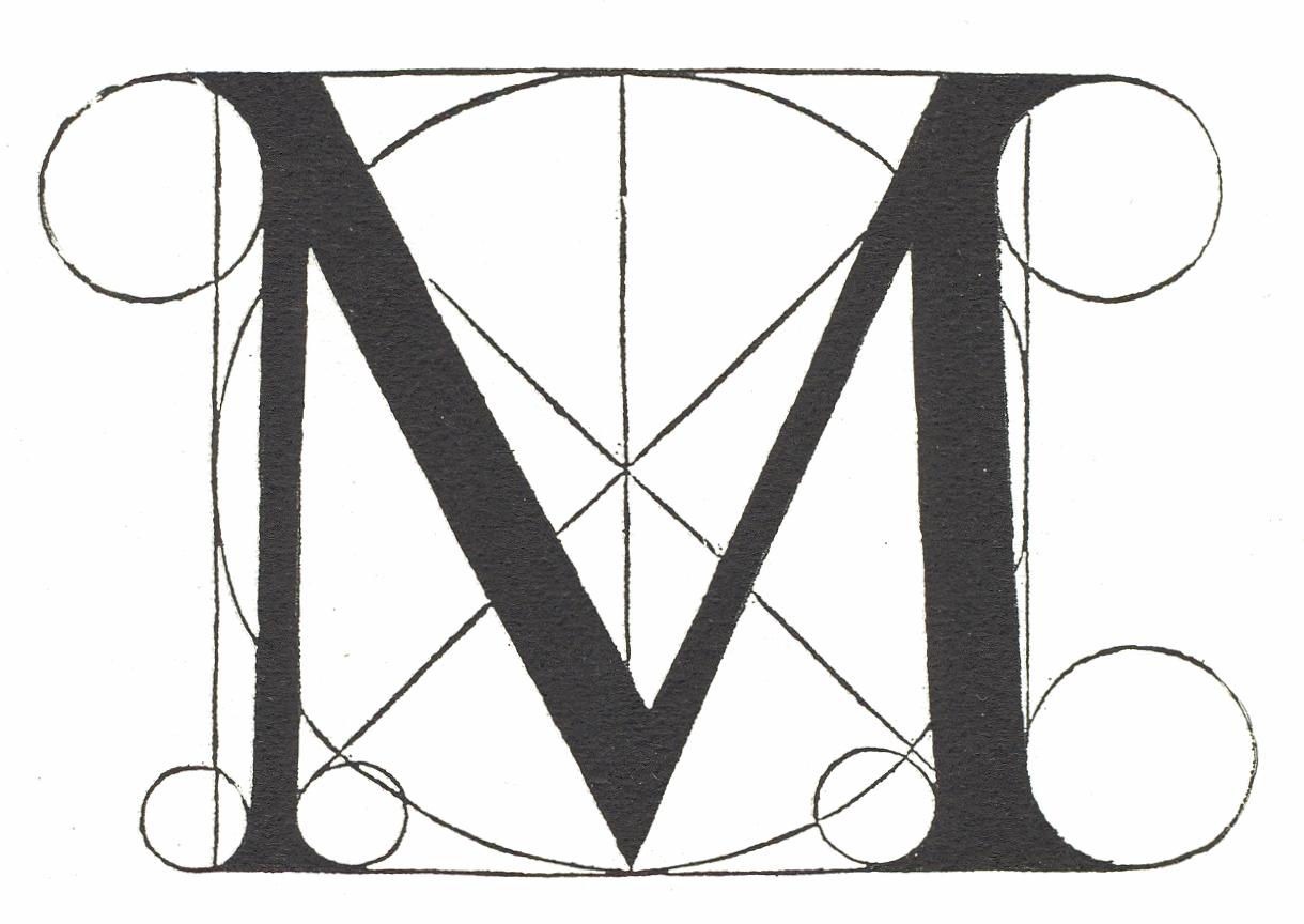 File:Fra Luca Pacioli Letter M 1509.png - Letter M HD PNG