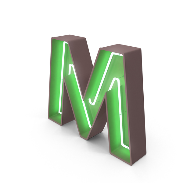 Neon Letter M - Letter M HD PNG