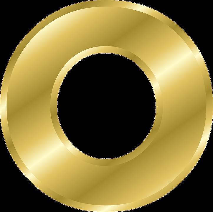 Letter, O, Capital Letter, Alphabet, Abc, Gold - Letter O PNG