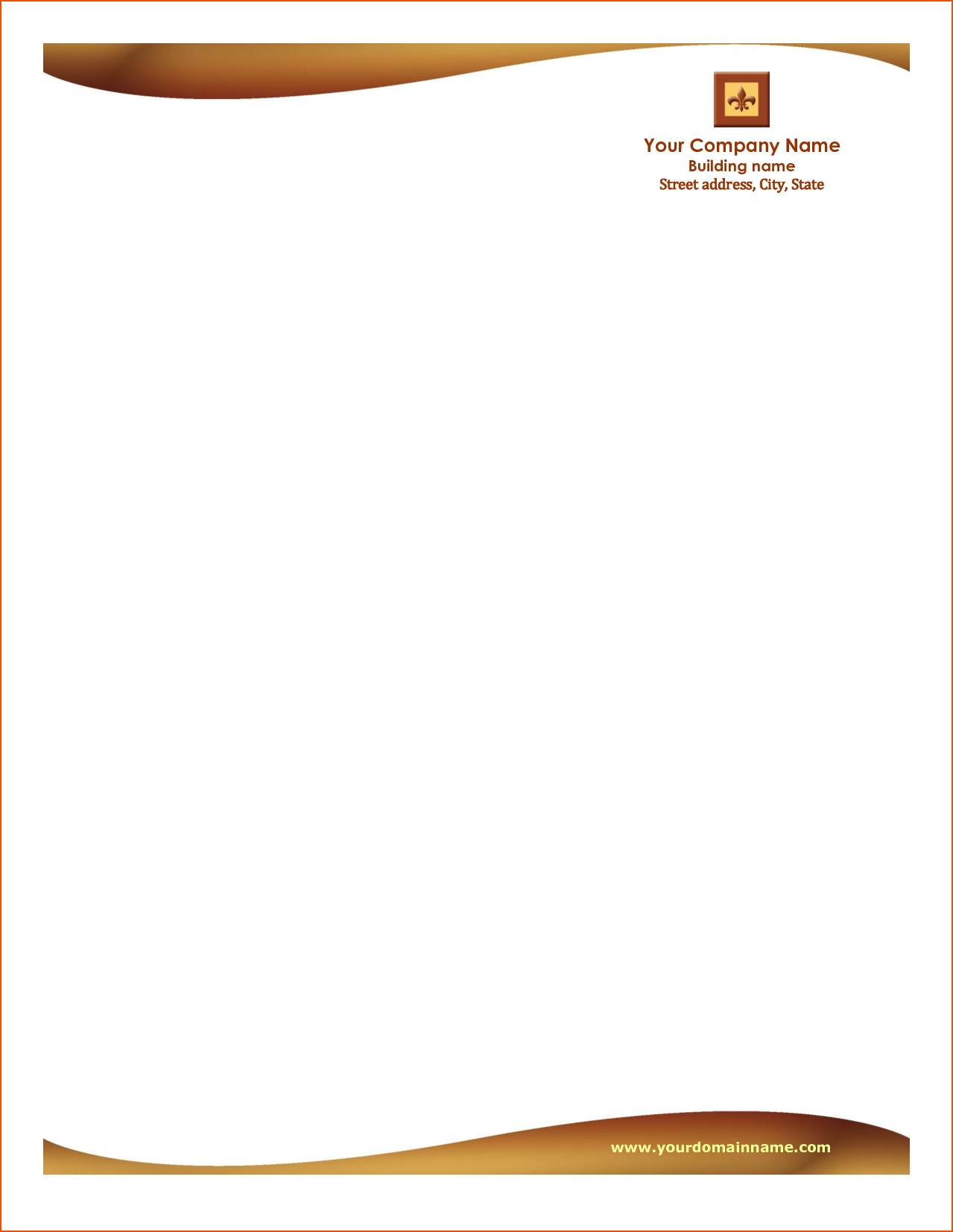 word business letterhead temp