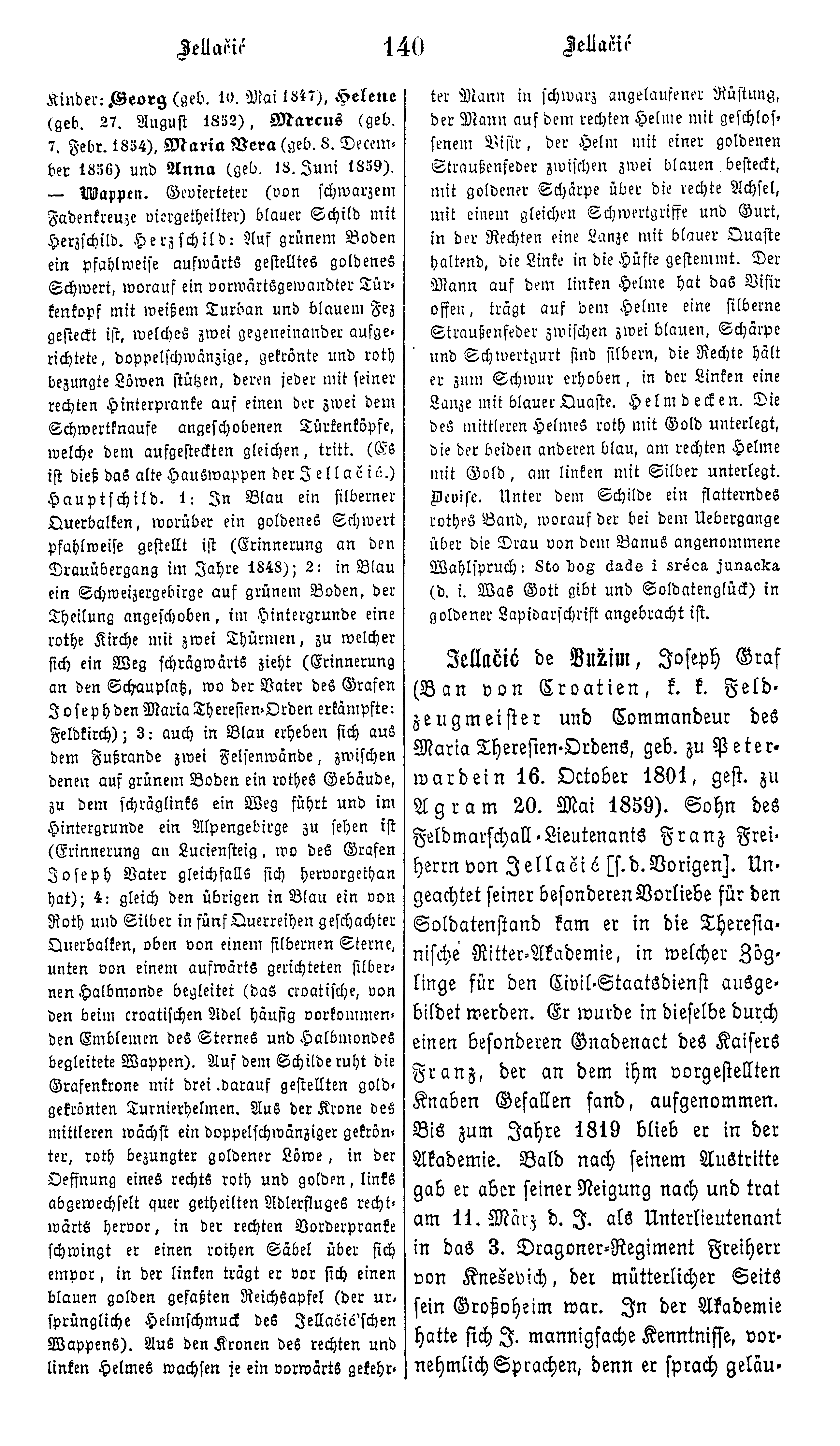 File:Biographisches Lexikon des Kaiserthums Oesterreich Band 10 Seite 140. png - Lexikon PNG
