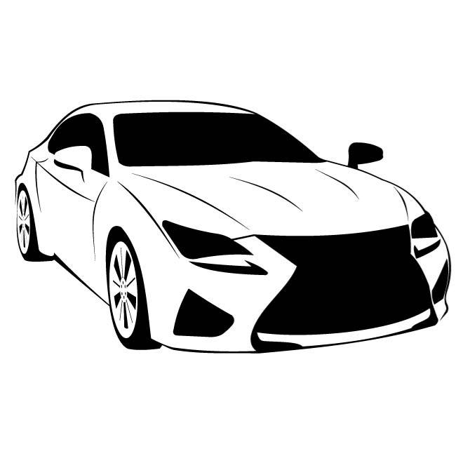 CAR MODEL LEXUS RC F VECTOR - Lexus Auto Logo Vector PNG
