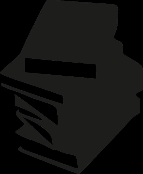 Boeken, Bibliotheek, Papier, Lezen, Silhouet, Nietje - Lezen PNG