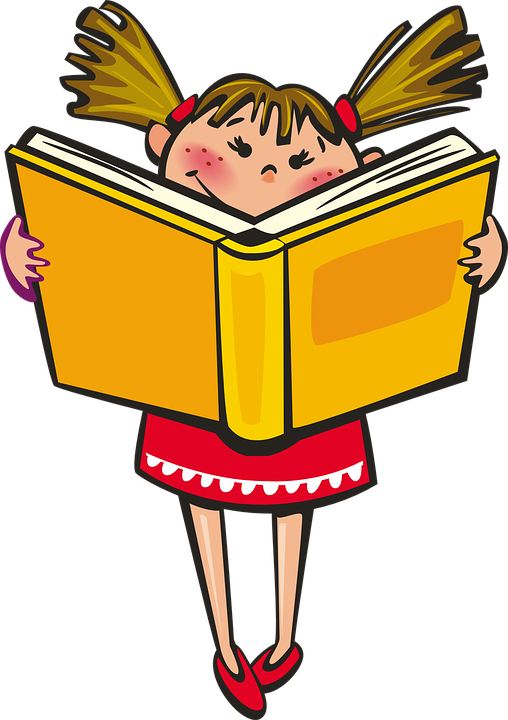 Meisje, Boek, School, Lezen, Leren, Gelukkig - Lezen PNG