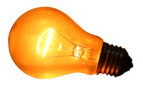 Download Glowing Yellow Light Bulb PNG image - Light Bulb PNG