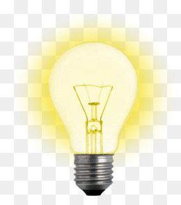 Glowing light bulb. PNG - Light Bulb PNG