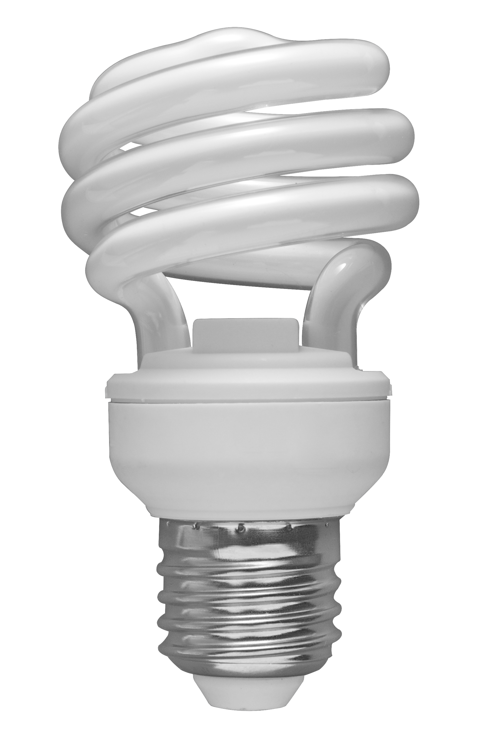 File:01 Spiral CFL Bulb 2010-03-08 (transparent back). - Light Bulb PNG HD