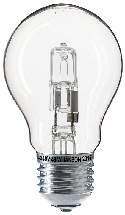 Light Bulb, Halogen, Halogen Lamp, Bulbs, Isolated - Light Bulb PNG HD