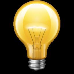 yellow light bulb PNG image - Light Bulb PNG