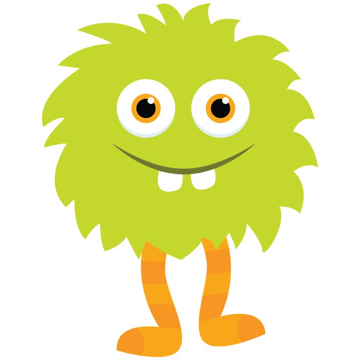 Little Monster Clipart_Green . - Lil Monster PNG