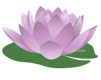Digital Clipart-Clipart Singles-Water Lily-Purple Flower-Lily-Lily Pad - Lily Pad PNG