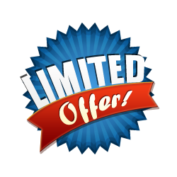 Limited Offer - Burst Badge Blue - Limited Offer PNG