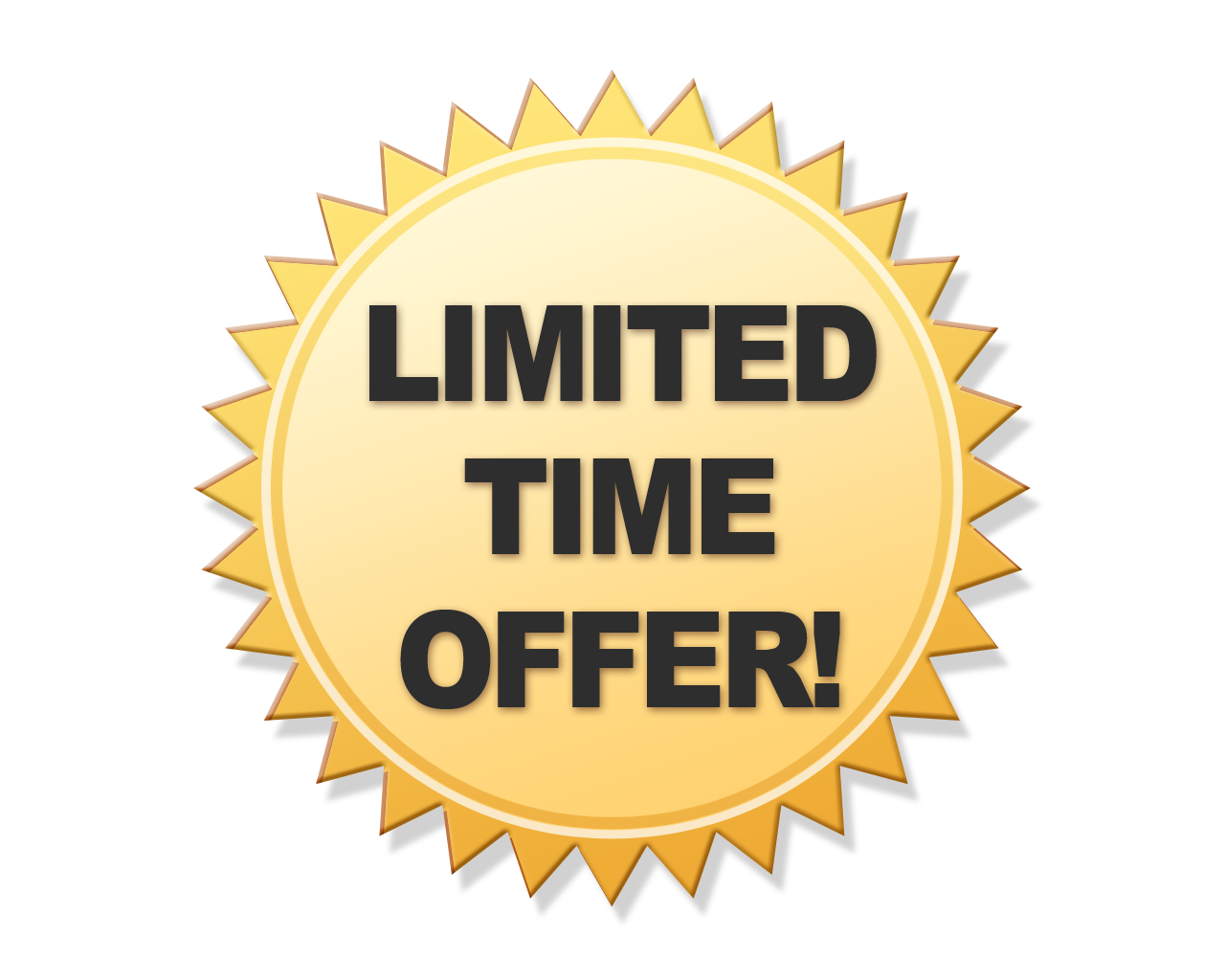 Limited Offer Transparent PNG Image - Limited Offer PNG
