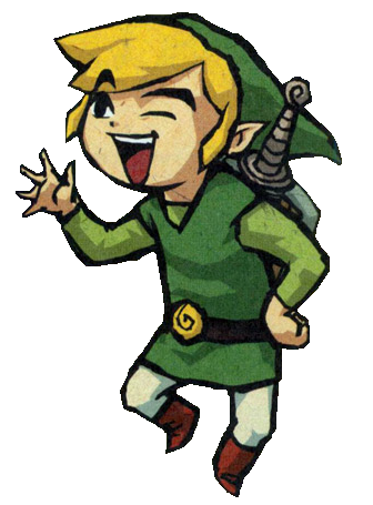 Archivo:Link en WW14.png - Link Zelda PNG