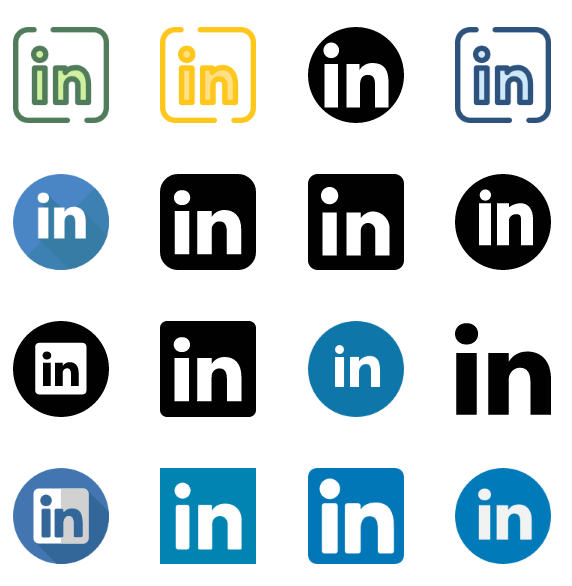 LinkedIn icons vector - Linkedin Icon Vector PNG