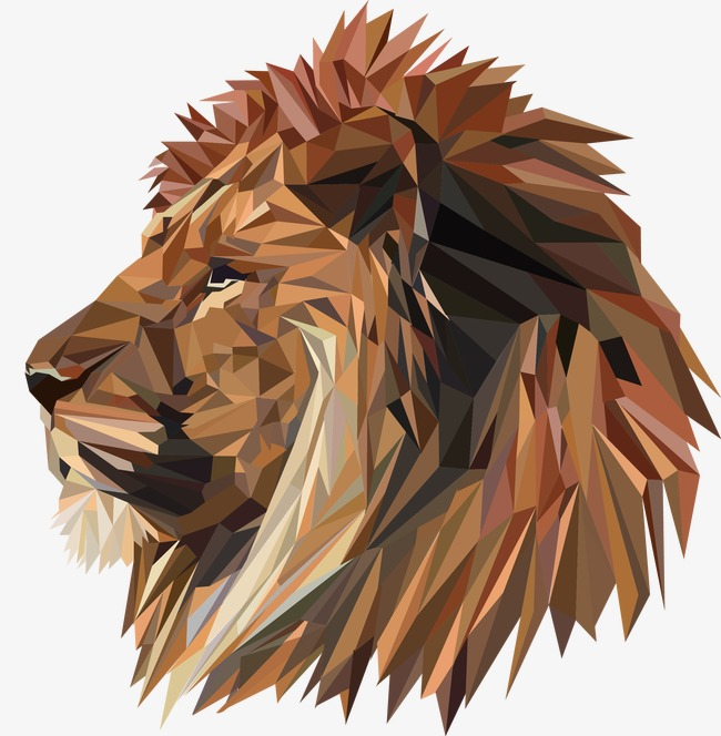 vector lion head, Vector, Lion, Lion Vector PNG and Vector - Lion And Den PNG