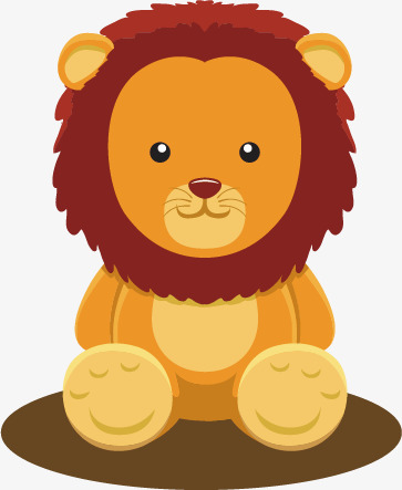 Assis, le lion, Le Lion, Jaune, Petit Lion PNG et Vecteur - Lion Assis PNG