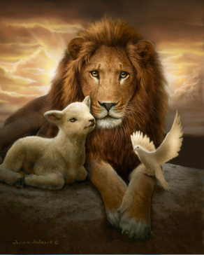 Christian art - Lion Assis PNG