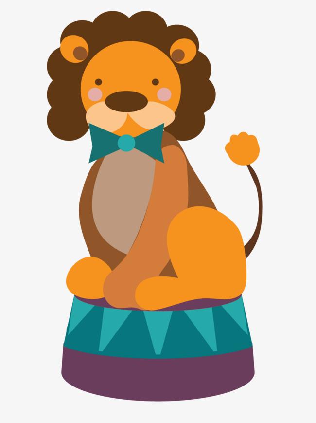 Le lion de vecteur de cirque Gratuit PNG et Vecteur - Lion Assis PNG