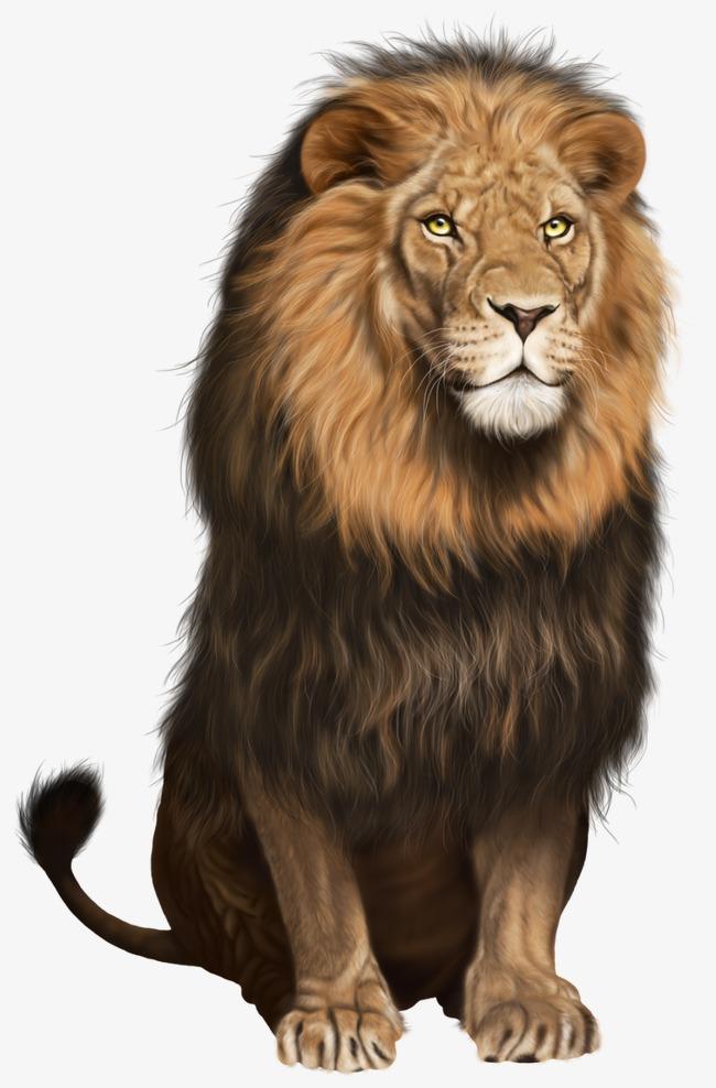 Le lion féroce et assise Gratuit PNG et Clipart - Lion Assis PNG