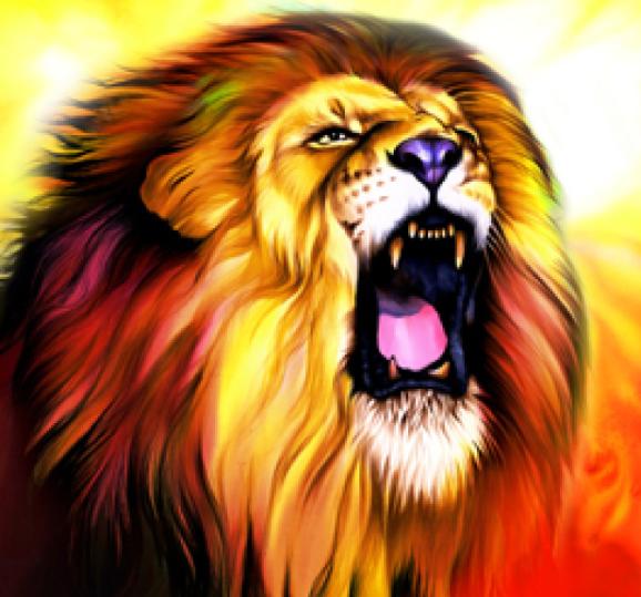 Roaring Lion - Lion Assis PNG