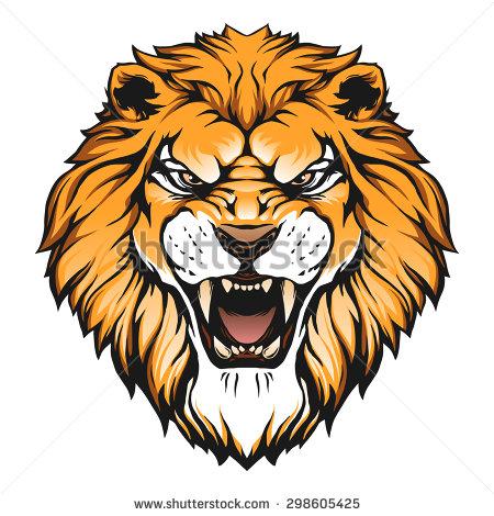 Lion head illustration - Lion Head PNG HD