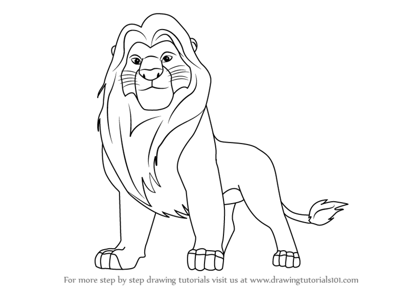 How to Draw Mufasa from The Lion King - Lion King PNG Black And White