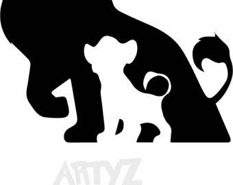 Lion King ***Digital Item Only*** Clipart digital download svg, - Lion King PNG Black And White