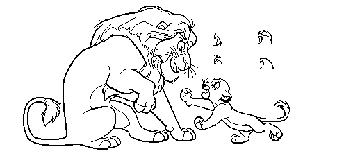 The Lion King Base 3 By CandyNtheSweetettez PlusPng.com  - Lion King PNG Black And White