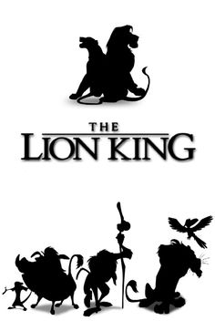 The Lion King Silhouettes - Lion King PNG Black And White