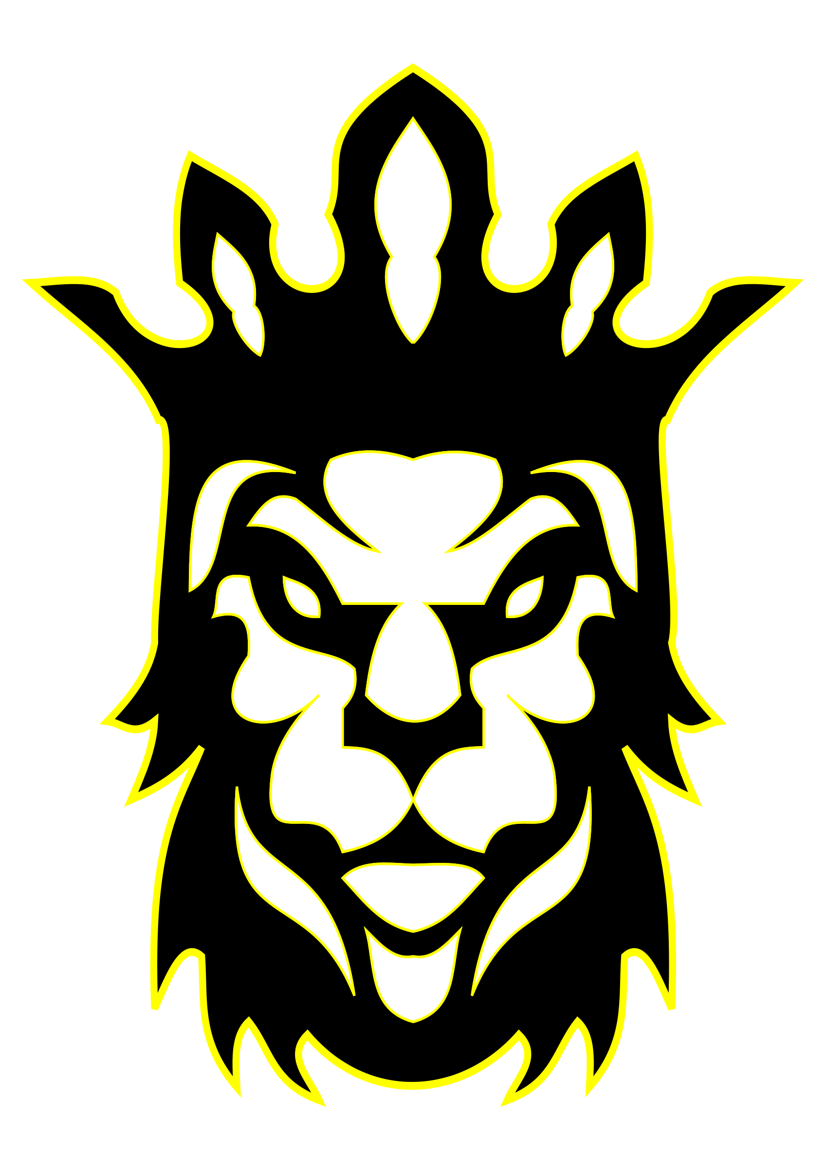 This Free Icons Png Design Of The Lion As A King PlusPng.com  - Lion King PNG Black And White