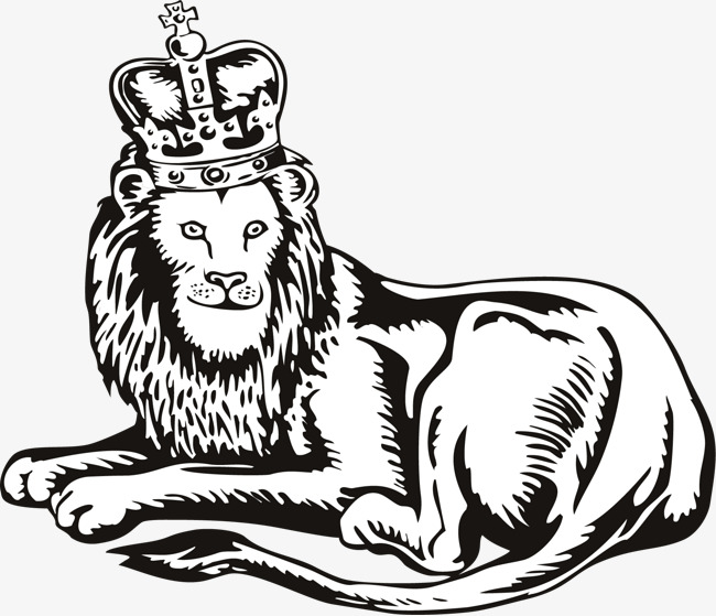 Vector painted Lion King, Vector, Hand Painted, The Lion King PNG and Vector - Lion King PNG Black And White