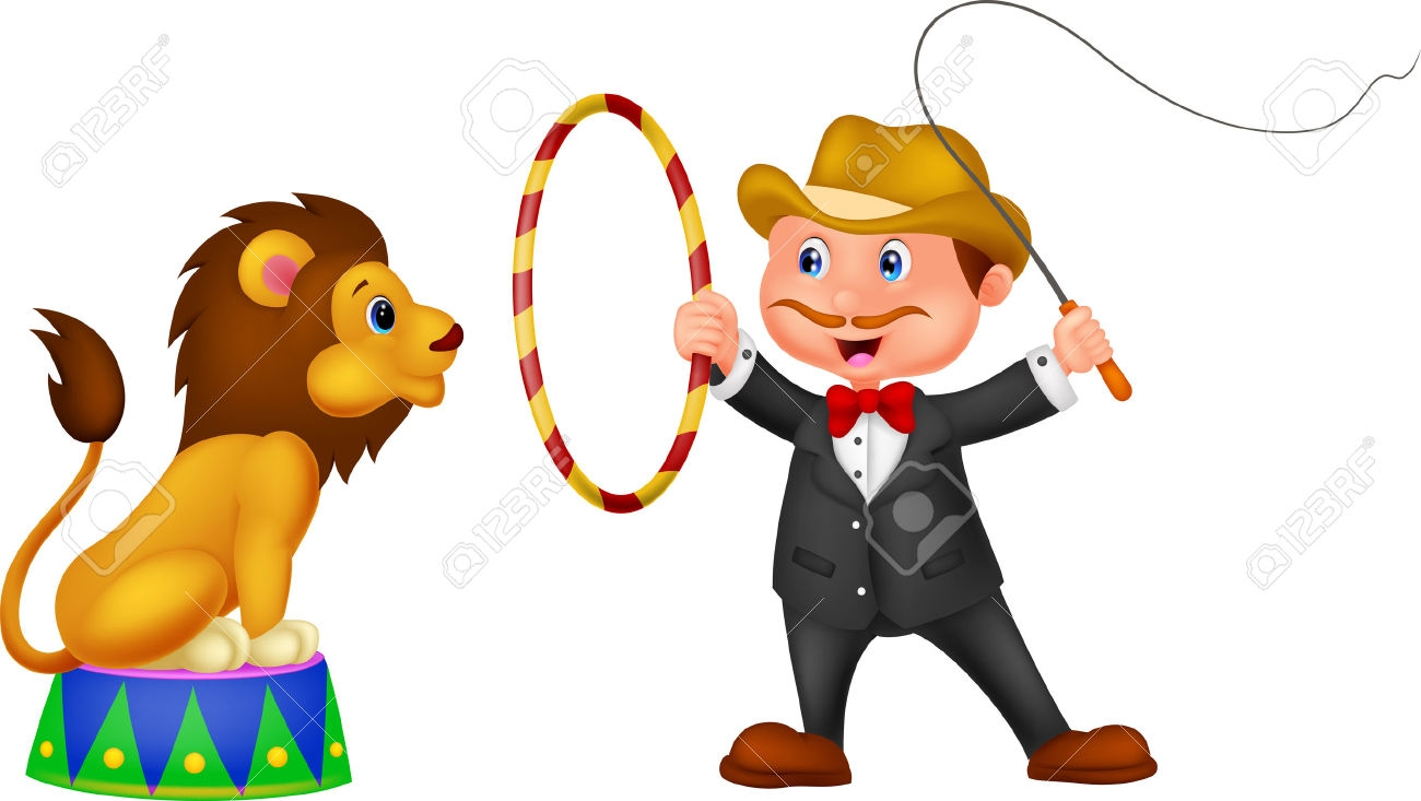 Circus Lion Tamer Clipart - Lion Tamer PNG