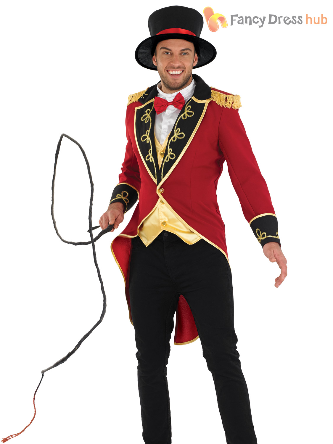 Deluxe-Adult-Male-Ringmaster-Costume-Mens-Circus-Fancy- - Lion Tamer PNG