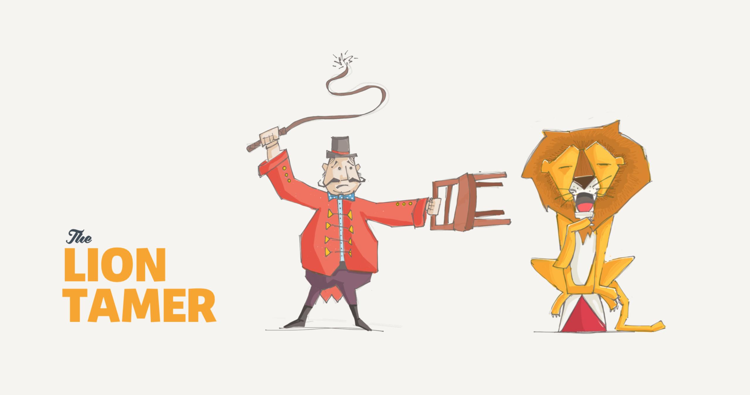 Liontamer sketch - Lion Tamer PNG