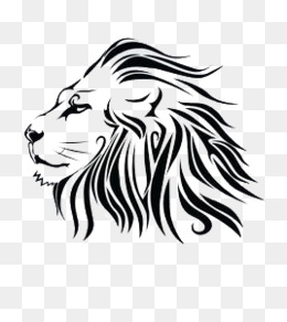 Hand painted black lion, Hand Painted, Lion, Head PNG Image - Lions Head HD PNG