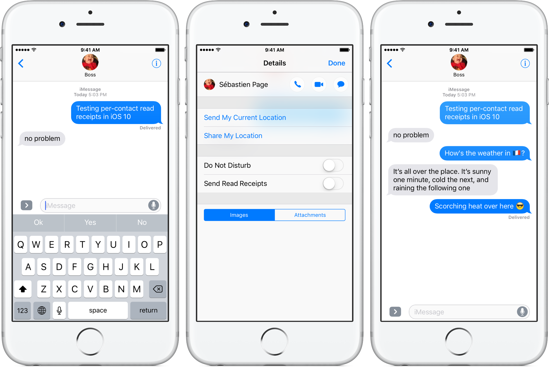 iOS 10 Read Receipts per-cont