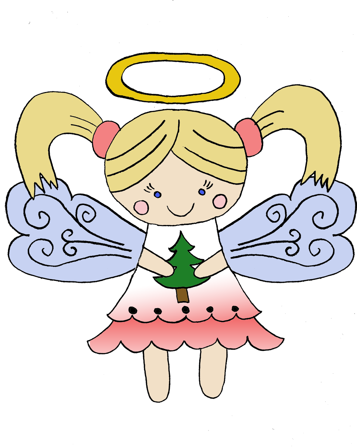Christmas Angel PNG HD - Little Angel PNG HD