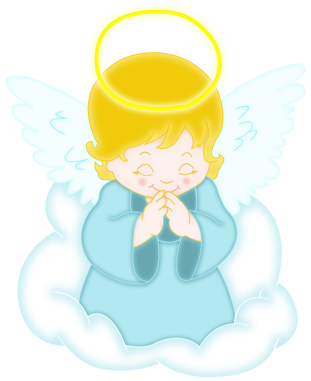 cute little angels clipart