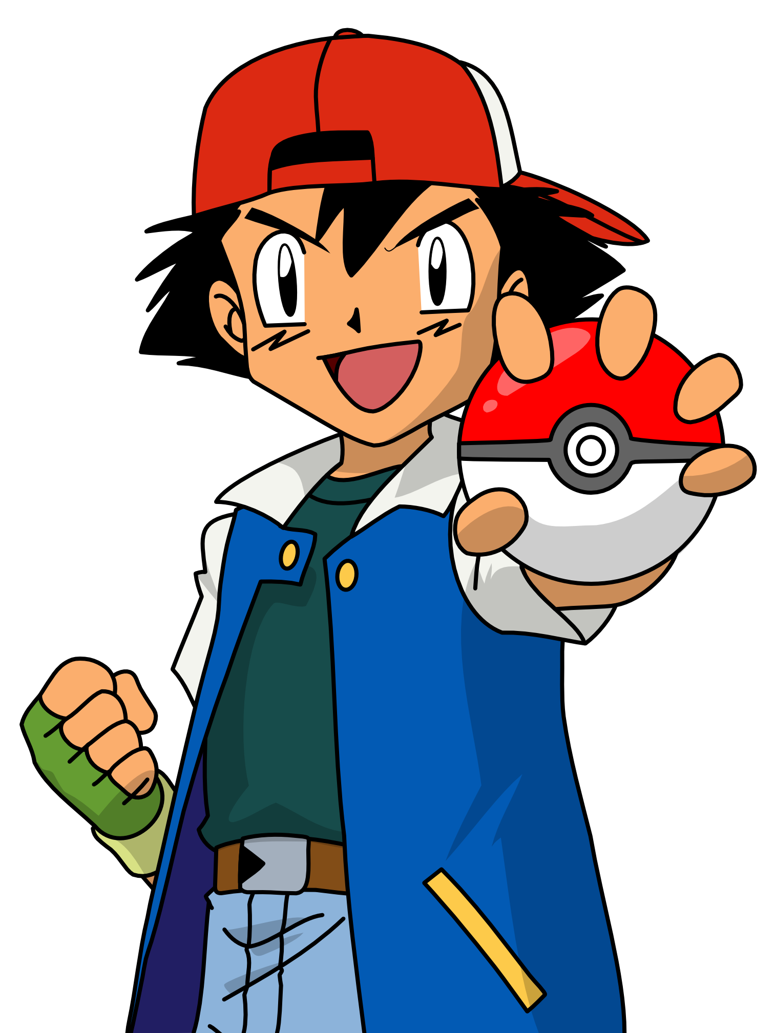 200px-Ash anime.png - Little Boy PNG HD