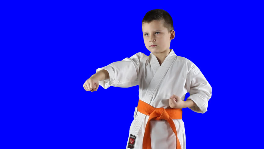 A Little Boy In A Kimono Do Karate Kick On A Transparent Background. PNG Alpha  Stock Footage Video 13495469 | Shutterstock - Little Boy PNG HD
