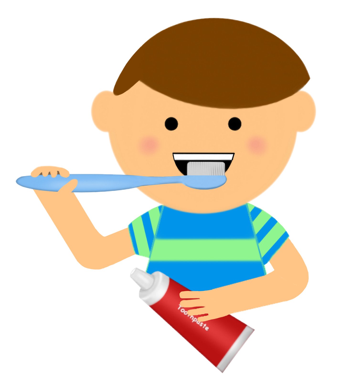 Brush Teeth Clipart - Little Boy PNG HD