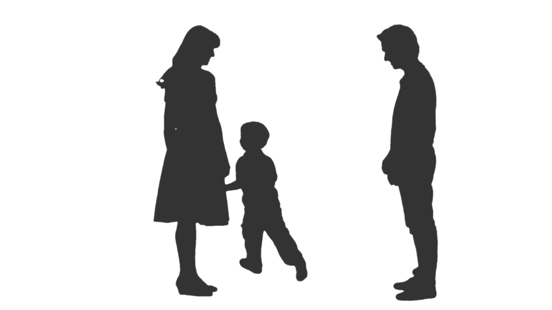 Silhouette of a little boy playing with his parents. Full HD footage with  alpha channel Stock Video Footage - VideoBlocks - Little Boy PNG HD