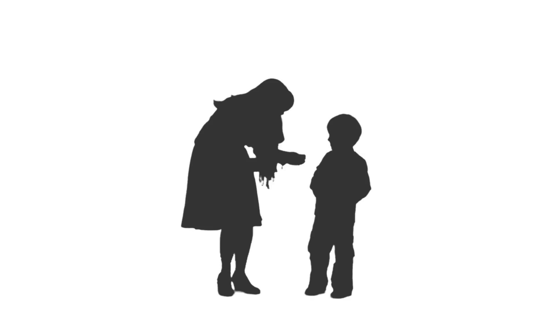 Silhouette of a little boy standing and speaking with his mother. Full HD  footage with alpha channel Stock Video Footage - VideoBlocks - Little Boy PNG HD