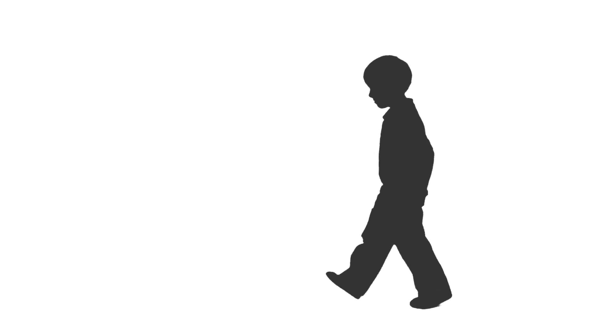 Silhouette of a little boy walks forward and backward. Side view. Full HD  footage with alpha channel Stock Video Footage - VideoBlocks - Little Boy PNG HD