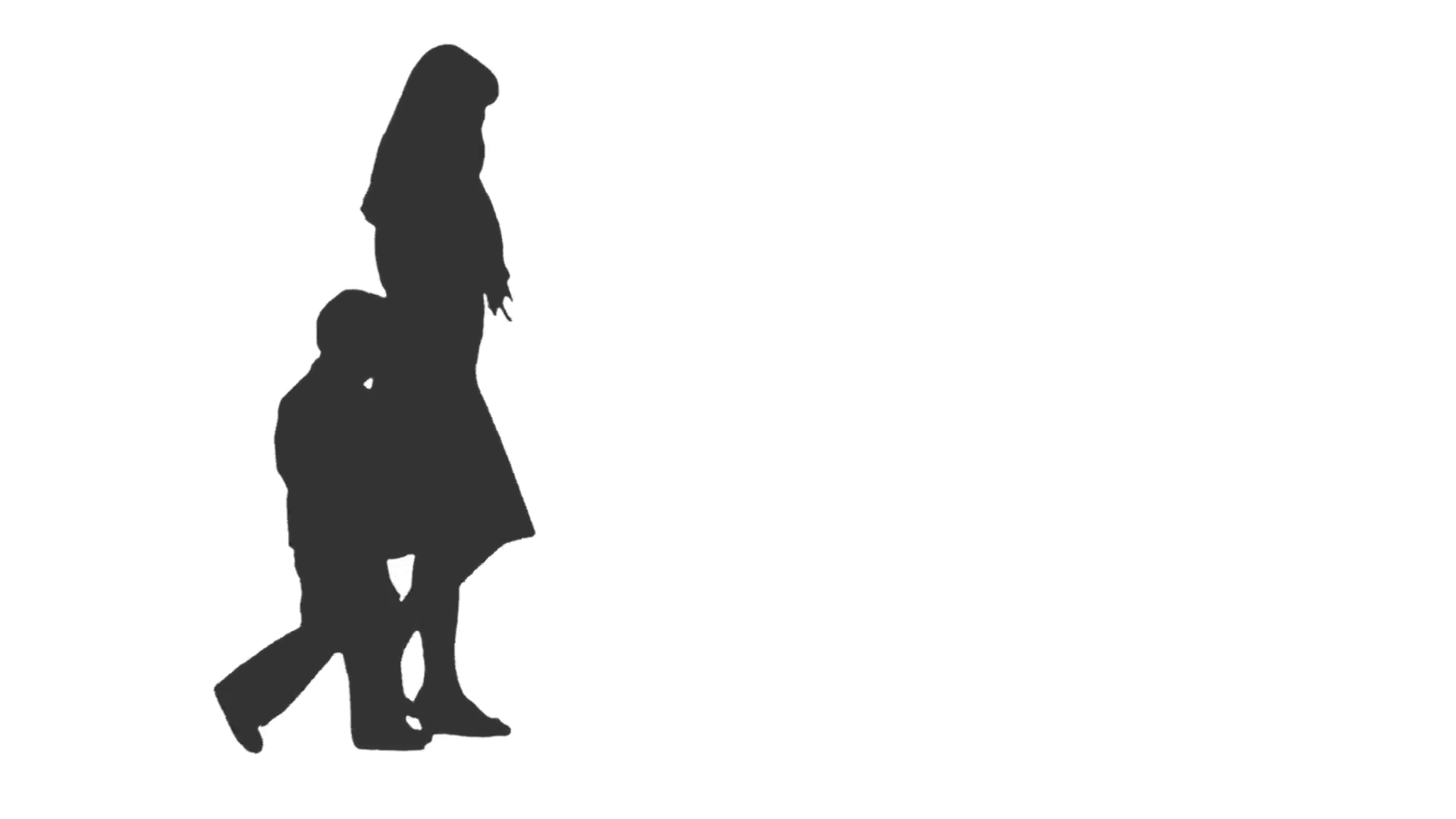 Silhouette of a woman walking with a little boy, Side view. Full HD footage  with alpha channel Stock Video Footage - VideoBlocks - Little Boy PNG HD