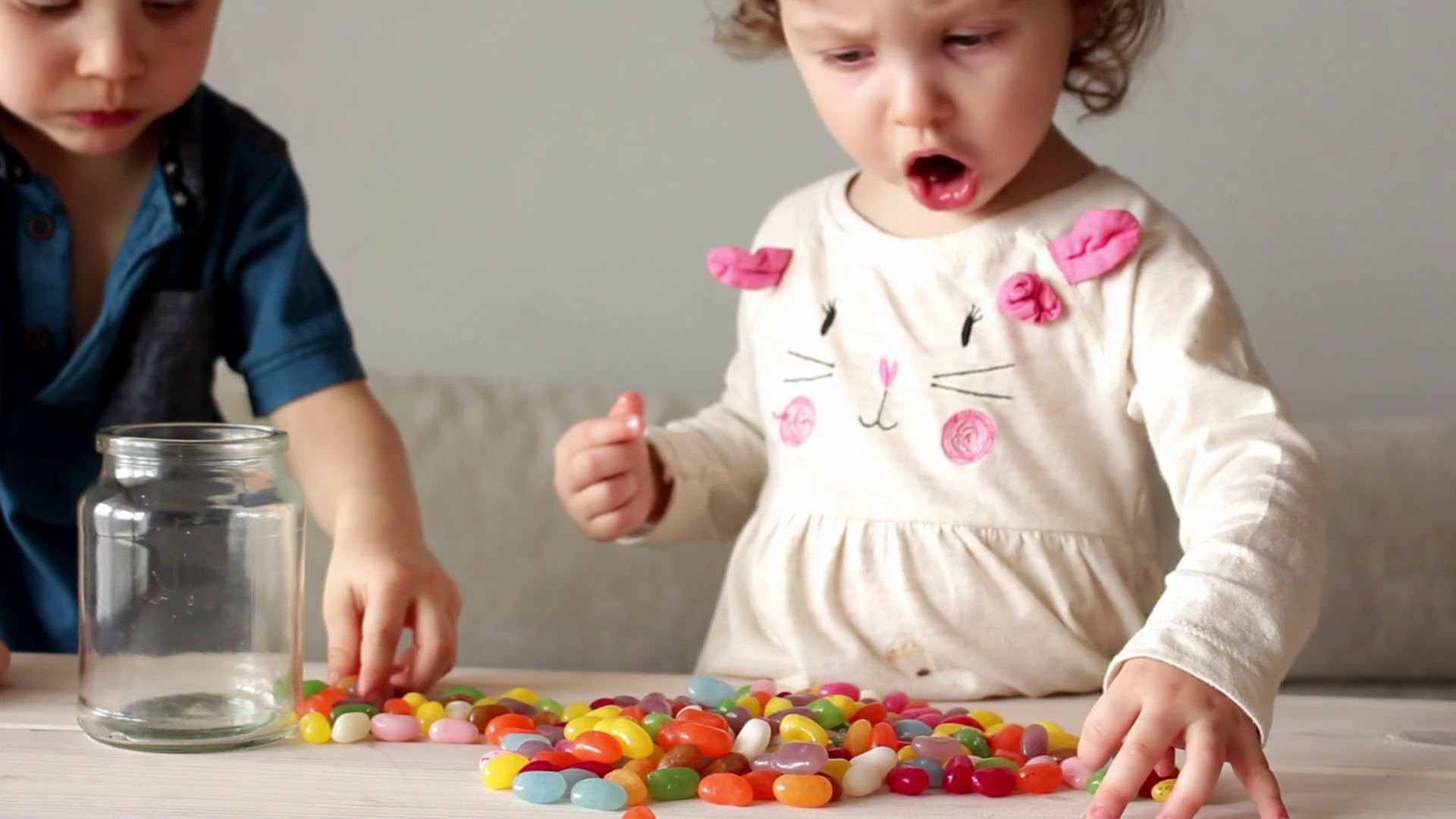 cute little children eating colorful scattered candy Stock Video Footage -  VideoBlocks - Little Children PNG HD