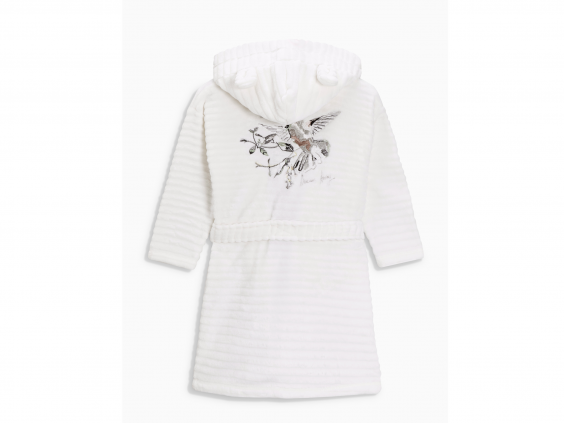 Donu0027t want a pattern on their dressing gown? Or maybe youu0027re after  something more subtle than an all-over print? Feast your eyes on this  stylish white soft PlusPng.com  - Little Girl Big Robe PNG