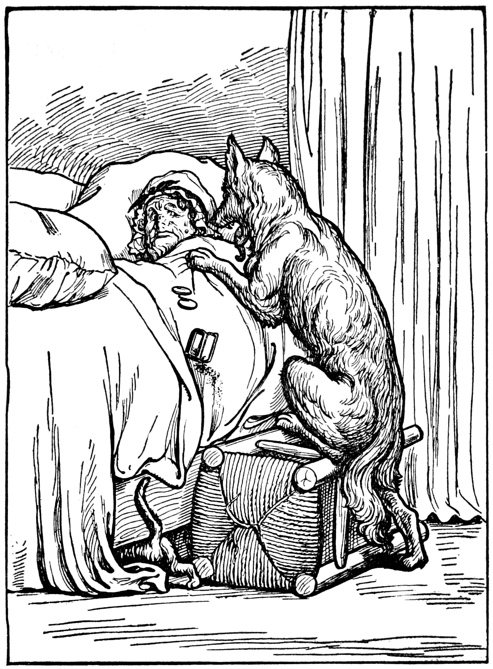File:Little Red Riding-Hood (2) in Tales of Mother Goose ( - Little Red Riding Hood PNG Black And White